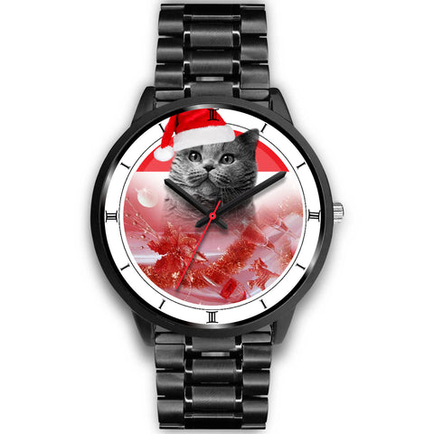British Shorthair Cat Christmas Special Wrist Watch