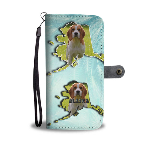 Cute Beagle Dog Print Wallet CaseAK State