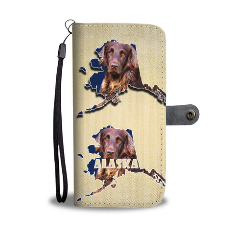 German Longhair Dog Print Wallet CaseAK State