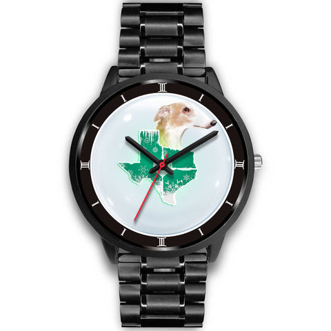 Borzoi Dog Texas Christmas Special Wrist Watch