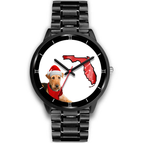 Airedale Terrier On Christmas Special Wrist WatchFL State