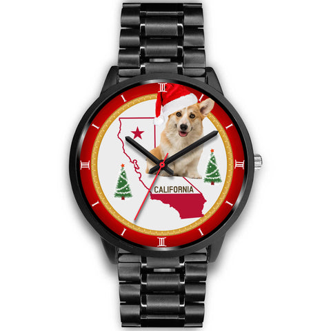 Pembroke Welsh Corgi California Christmas Special Wrist Watch