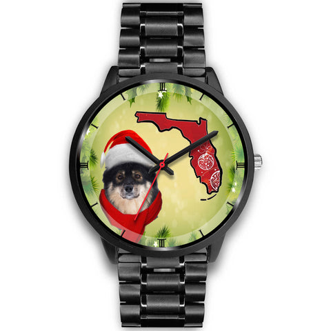Finnish Lapphund On Christmas Florida Wrist Watch