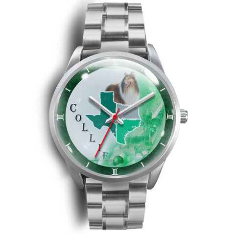 Rough Collie Texas Christmas Special Wrist Watch