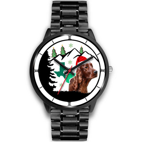 Irish Setter Dog Texas Christmas Special Wrist Watch