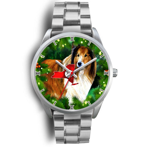 Rough Collie Dog New York Christmas Special Wrist Watch
