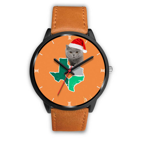 British Shorthair Cat Texas Christmas Special Wrist Watch