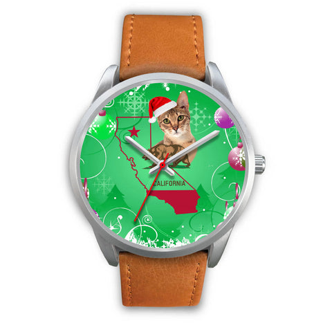 Savannah cat California Christmas Special Wrist Watch