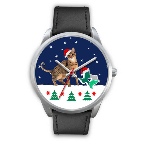 Savannah cat Texas Christmas Special Wrist Watch