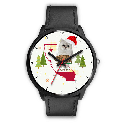 Exotic Shorthair Cat California Christmas Special Wrist Watch