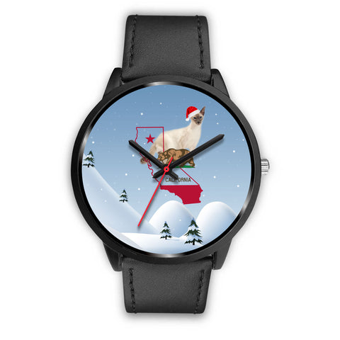Balinese cat California Christmas Special Wrist Watch