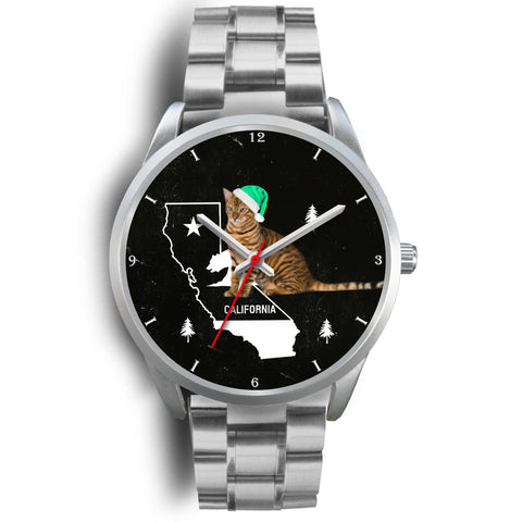 Toyger Cat California Christmas Special Wrist Watch