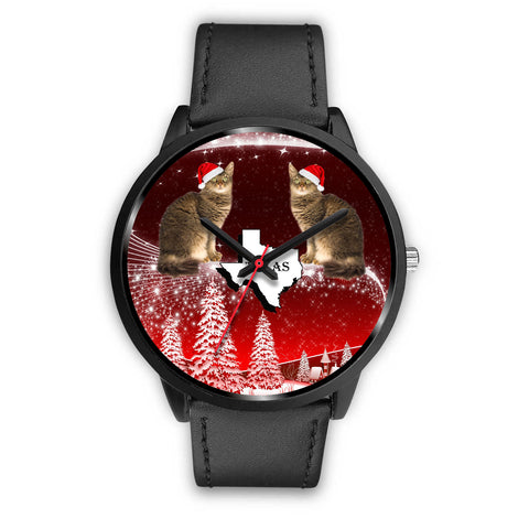 Laperm Cat Texas Christmas Special Wrist Watch
