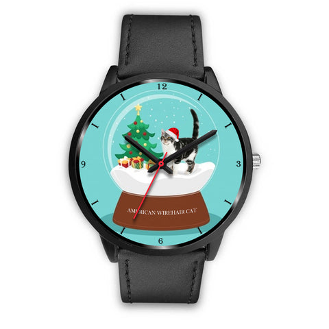 American Wirehair Cat Christmas Special Wrist Watch