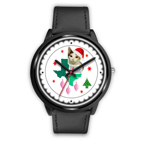 Japanese Bobtail Cat Texas Christmas Special Wrist Watch