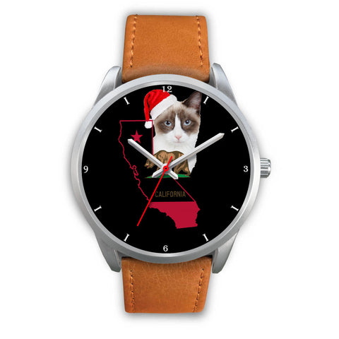 Snowshoe Cat California Christmas Special Wrist Watch