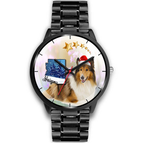 Rough Collie Arizona Christmas Special Wrist Watch