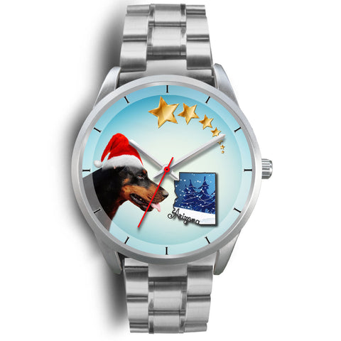 Doberman Pinscher Arizona Christmas Special Wrist Watch