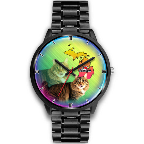 Lovely American Bobtail Cat Michigan Christmas Special Wrist Watch
