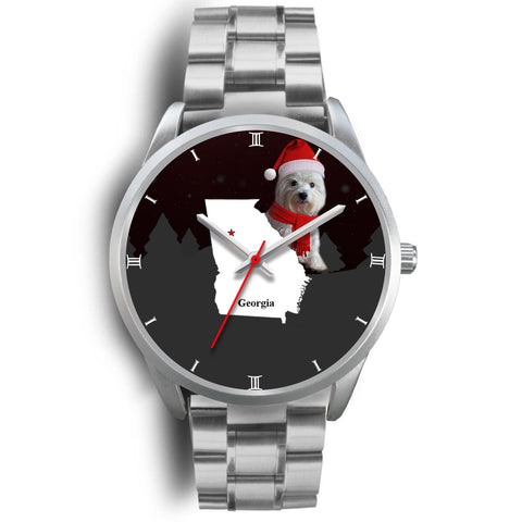 West Highland White Terrier (Westie) Georgia Christmas Special Wrist Watch