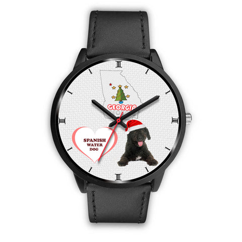 Spanish Water Dog Georgia Christmas Special Wrist Watch