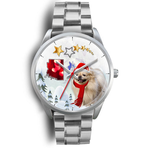 Pekingese Dog Arizona Christmas Wrist Watch