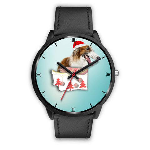 Borzoi Dog Washington Christmas Special Wrist Watch