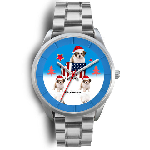 Shih Poo Dog Washington Christmas Special Wrist Watch