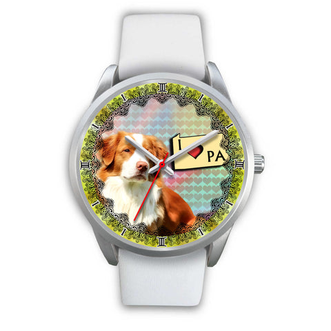 Nova Scotia Duck Tolling Retriever Pennsylvania Christmas Special Wrist Watch