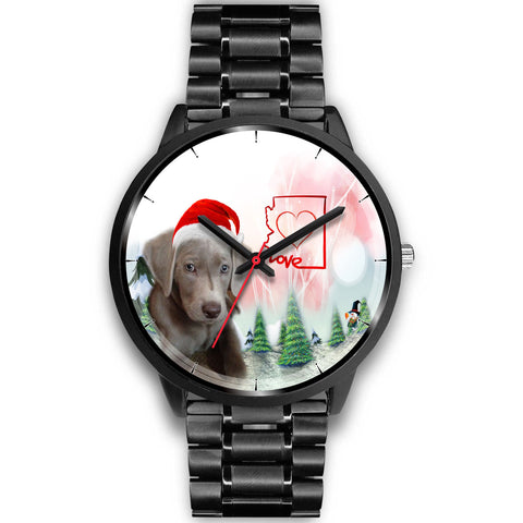 Weimaraner Dog Arizona Christmas Special Wrist Watch