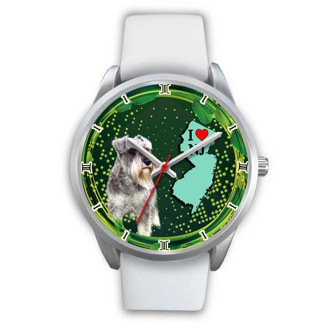 Lovely Miniature Schnauzer Dog New Jersey Christmas Special Wrist Watch
