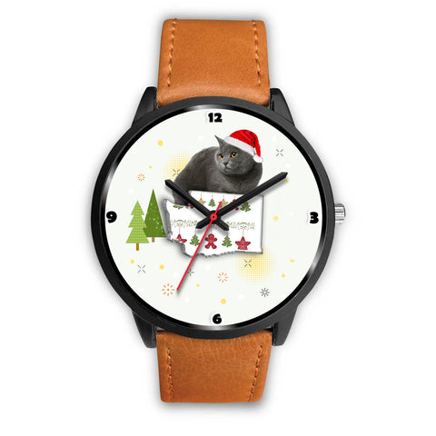 Chartreux Cat Washington Christmas Special Wrist Watch