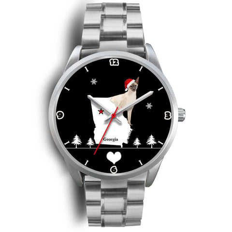 Balinese Cat Georgia Christmas Special Wrist Watch