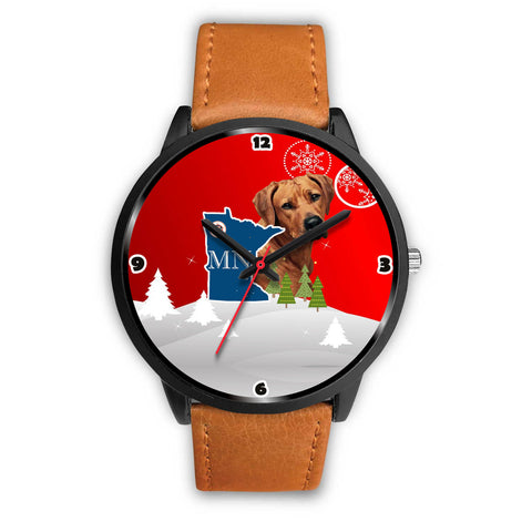 Rhodesian Ridgeback Dog Minnesota Christmas Special Wrist Watch