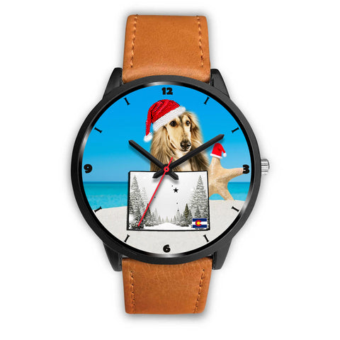 Afghan Hound Colorado Christmas Special Wrist Watch