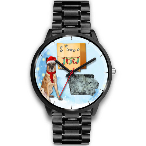 Belgian Malinois Dog Iowa Christmas Special Wrist Watch