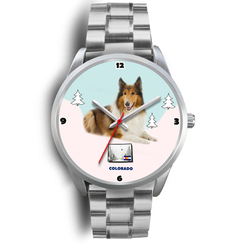 Rough Collie Colorado Christmas Special Wrist Watch