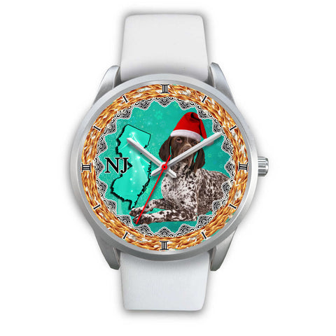 Amazing German Shorthaired Pointer Dog New Jersey Christmas Special Wrist Watch