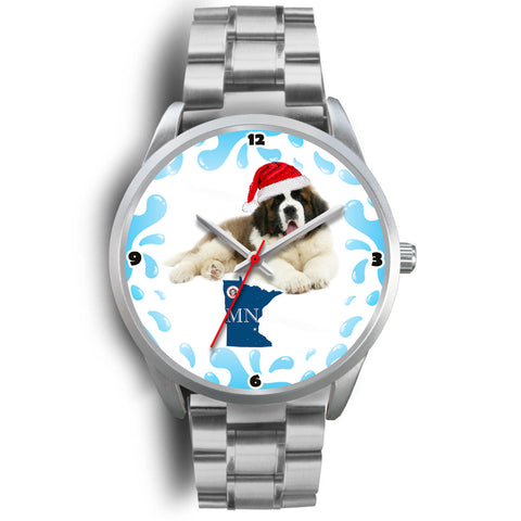 Saint Bernard Dog Minnesota Christmas Special Wrist Watch