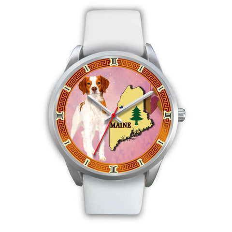 Graceful Brittany Dog Maine Christmas Special Wrist Watch