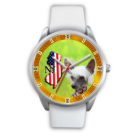 Lovely Chinese Crested Dog New Jersey Christmas Special Wrist Watch