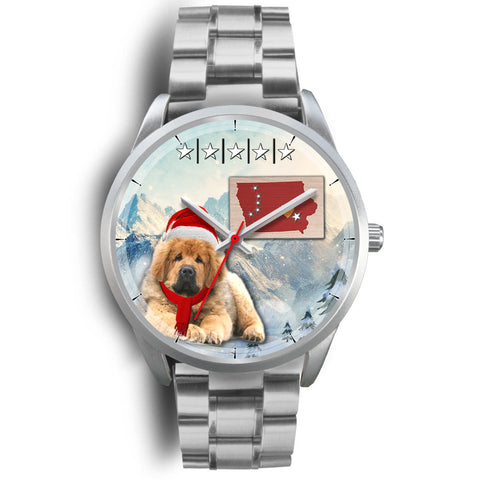 Tibetan Mastiff Iowa Christmas Special Wrist Watch