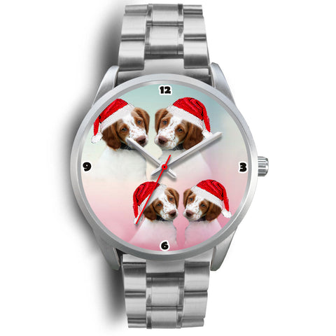 Brittany Dog Christmas Special Wrist Watch