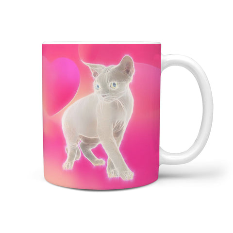 Devon Rex Cat Print 360 White Mug