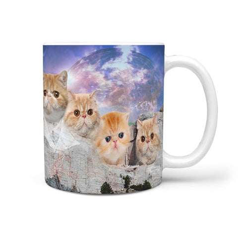 Exotic Shorthair Cat Mount Rushmore Print 360 Mug