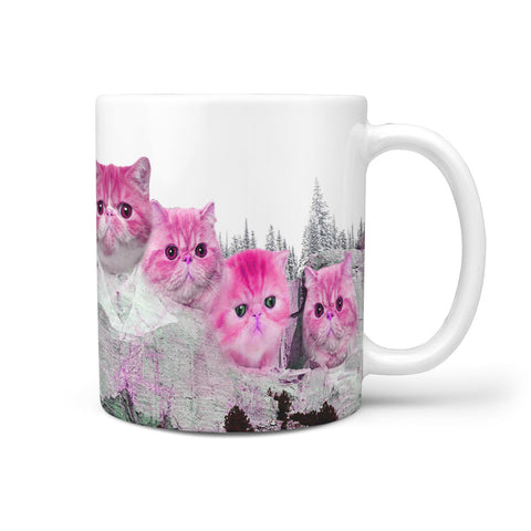 Exotic Shorthair Cat Art Mount Rushmore Print 360 Mug