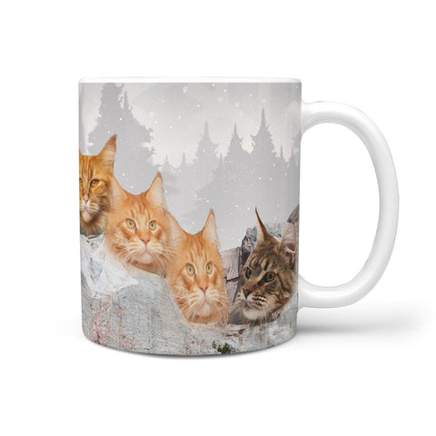 Maine Coon Cat Mount Rushmore Print 360 Mug