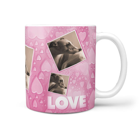 Whippet Dog Love Print 360 White Mug