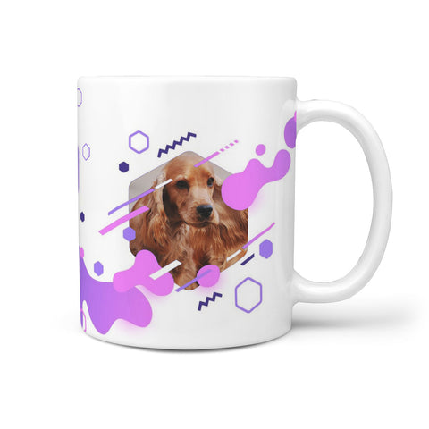 Cute English Cocker Spaniel Print 360 White Mug