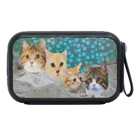 Munchkin Cat On Mount Rushmore Print Bluetooth Speaker